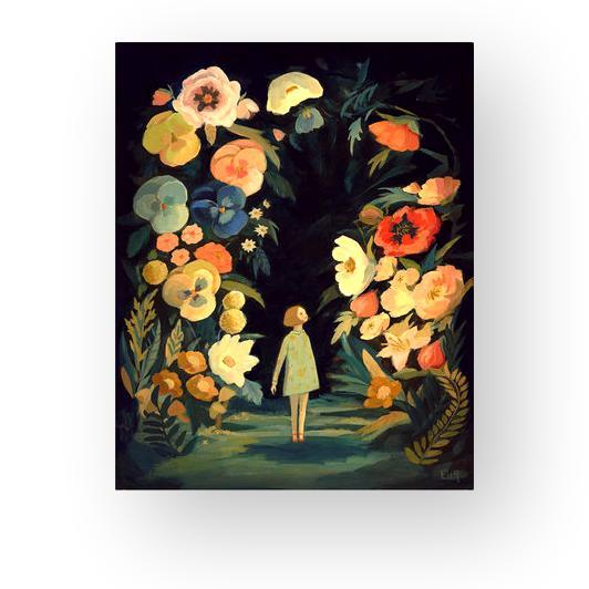 "LOVE THIS! Night Garden Art Print Larger 11x14"" from Emily Winfield Martin - shop at littlewhimsy NZ"
