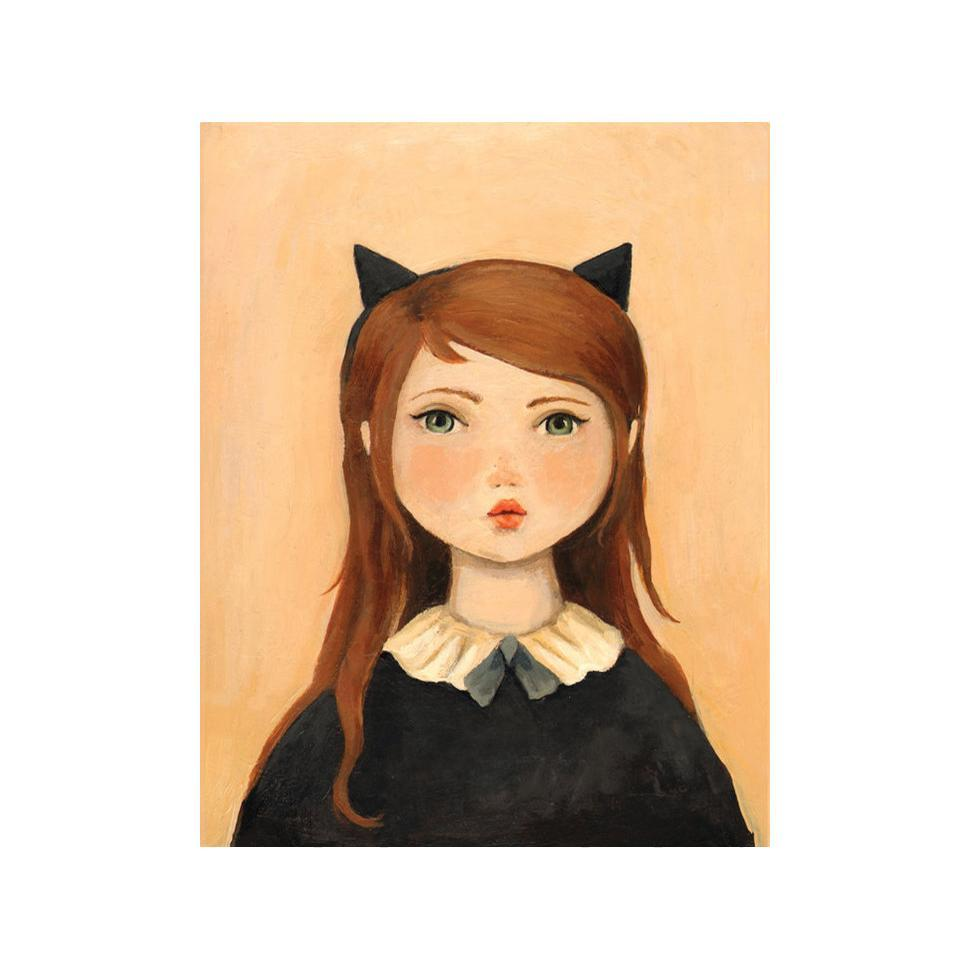 LOVE THIS! Portrait with Cat Ears Art Print from Emily Winfield Martin - shop at littlewhimsy NZ