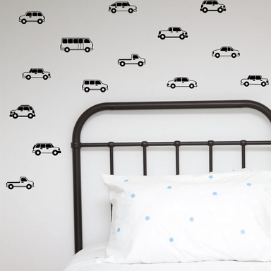 LOVE THIS! Wall Decals - Cars and Trucks Wall Stickers from 100 Percent Heart - shop at littlewhimsy NZ