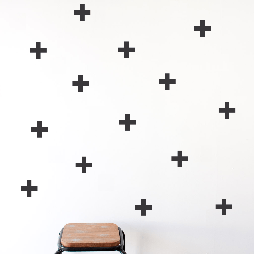 LOVE THIS! Wall Decals - Crosses from 100 Percent Heart - shop at littlewhimsy NZ