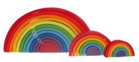 LOVE THIS! Grimm's Extra Large Rainbow Tunnel from Grimm's - shop at littlewhimsy NZ