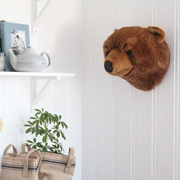 LOVE THIS! Oliver the Bear Light Brown - Wild & Soft Animal Head Large from Wild & Soft - shop at littlewhimsy NZ