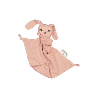 Muslin Bunny Comforter - Dusty Rose (darker pink)