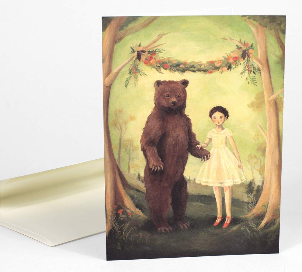 LOVE THIS! She Married a Bear Card from Emily Winfield Martin - shop at littlewhimsy NZ