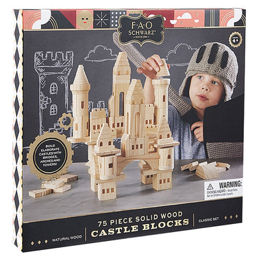 LOVE THIS! F.A.O Schwarz Toy Wood Castle Blocks 75pcs from FAO Schwarz - shop at littlewhimsy NZ