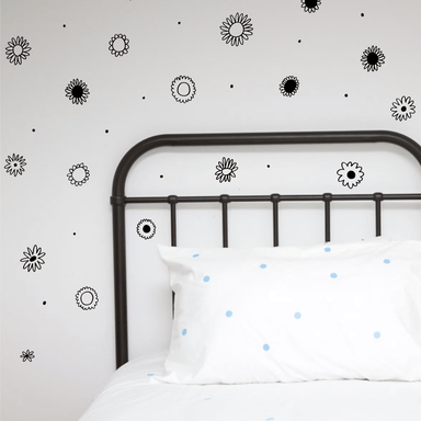 LOVE THIS! Wall Decals - Flower Power Wall Stickers from 100 Percent Heart - shop at littlewhimsy NZ