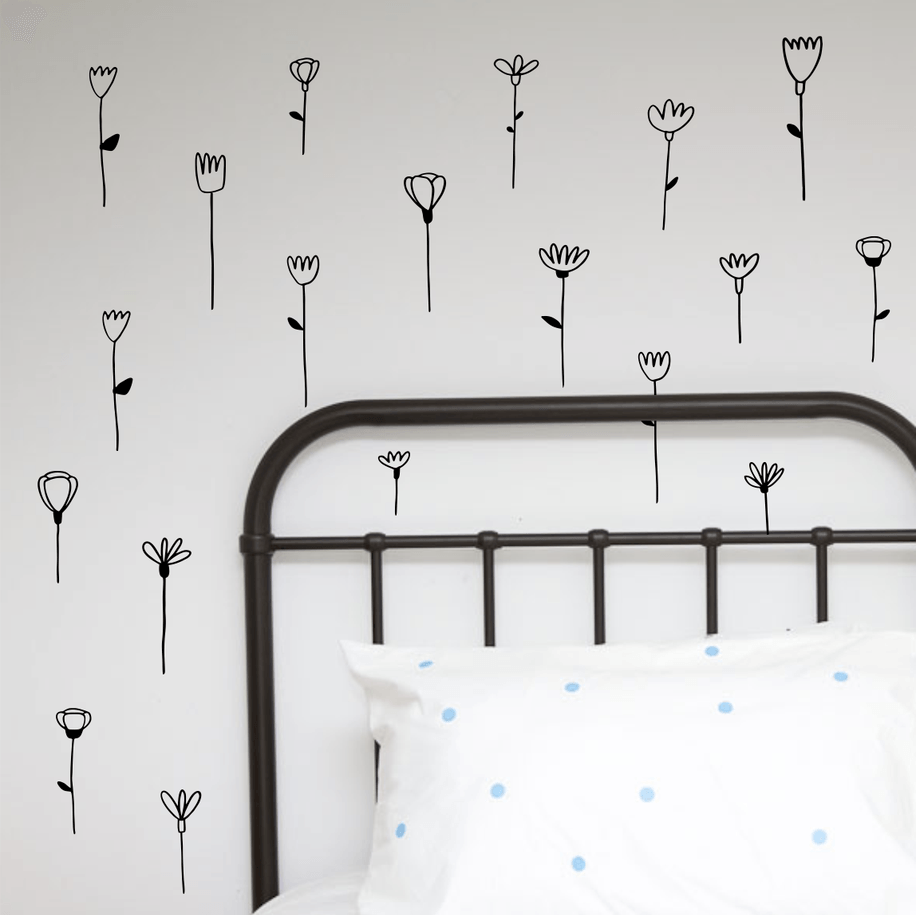 LOVE THIS! Wall Decals - Flower Stems Wall Stickers from 100 Percent Heart - shop at littlewhimsy NZ
