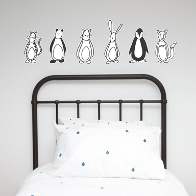LOVE THIS! Wall Decals - Friendly Fellow Nursery Buddies from 100 Percent Heart - shop at littlewhimsy NZ