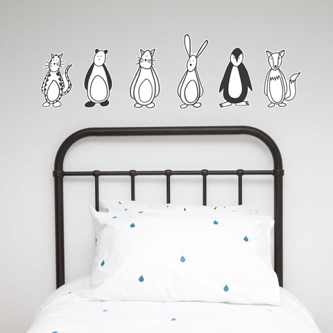 Wall Decals - Friendly Fellow Nursery Buddies from 100 Percent Heart - shop at littlewhimsy NZ