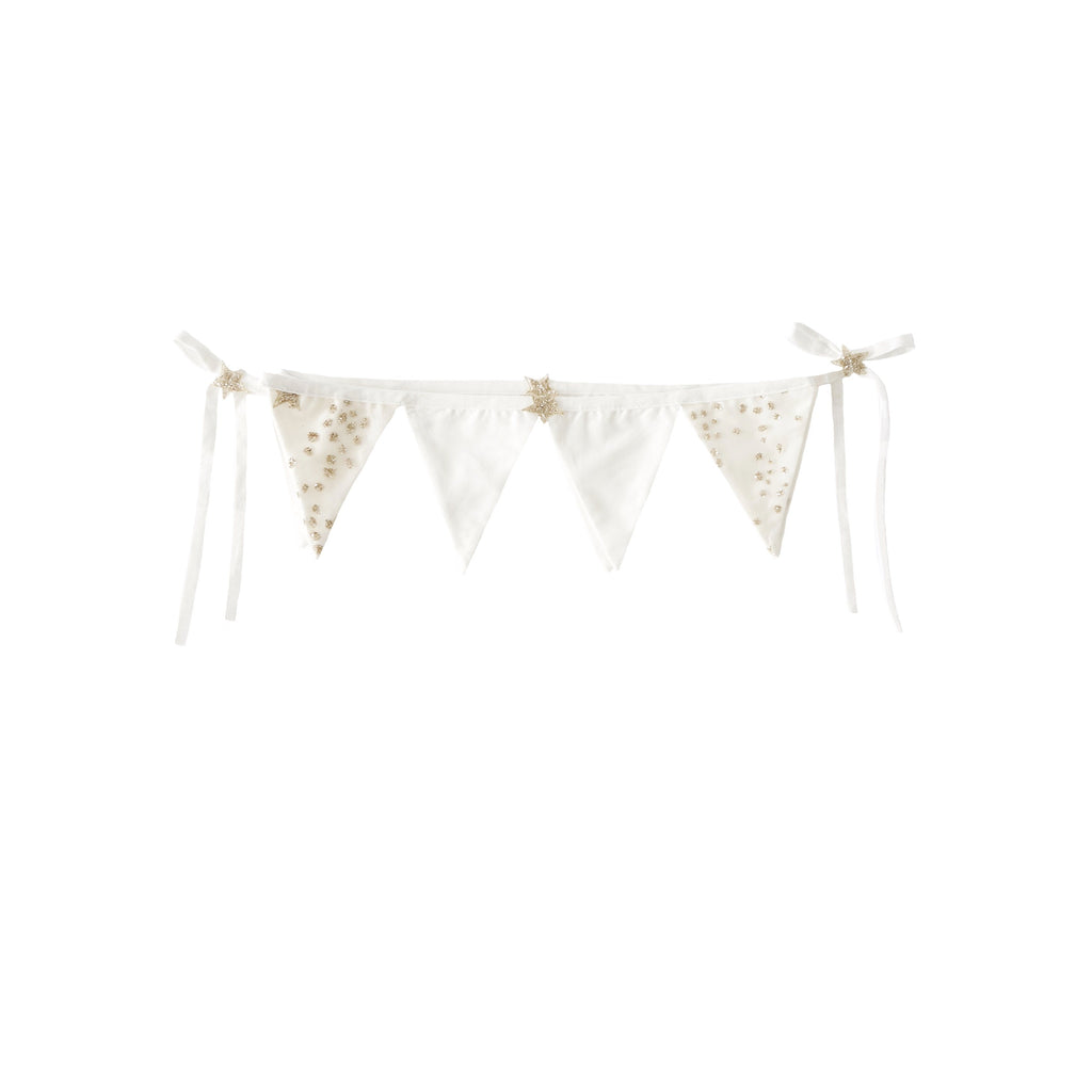 LOVE THIS! Bonne Mere - Glitter Stars Bunting - Chalk from Bonne Mere - shop at littlewhimsy NZ
