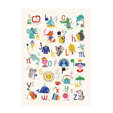 LOVE THIS! Poster ABC Apple-Zebra 50x70cm by Helen Dardik from Petit Monkey - shop at littlewhimsy NZ