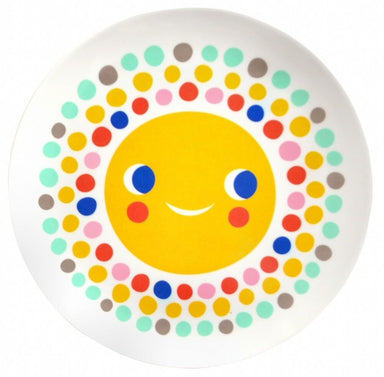 LOVE THIS! Melamine Plate Sun from Petit Monkey - shop at littlewhimsy NZ
