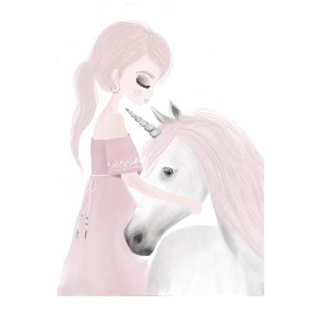 LOVE THIS! Ivy and Miss Unicorn Print from My Hidden Forest - shop at littlewhimsy NZ