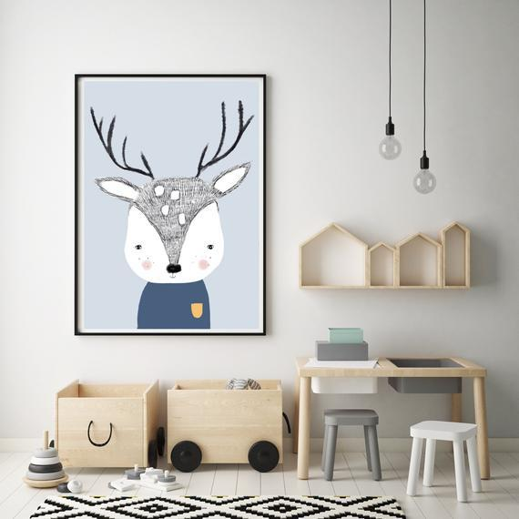 LOVE THIS! Douglas the Deer Print from My Hidden Forest - shop at littlewhimsy NZ