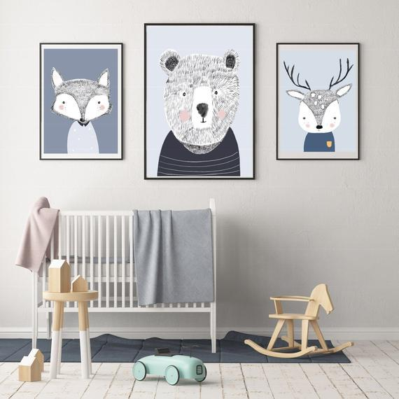 LOVE THIS! Teddy the Bear Print from My Hidden Forest - shop at littlewhimsy NZ