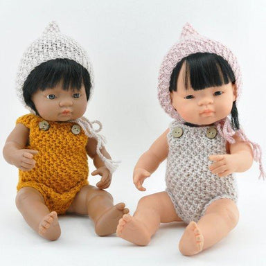 LOVE THIS! Miniland Doll Clothing - Crochet Pixie Bonnet - for 38cm Doll from Przytullale - shop at littlewhimsy NZ