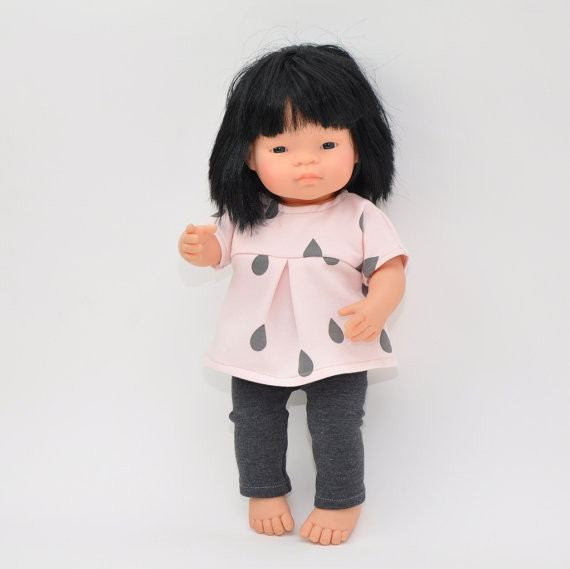 LOVE THIS! Miniland Doll Clothing -Tee and Pants - for 38cm Doll from Przytullale - shop at littlewhimsy NZ