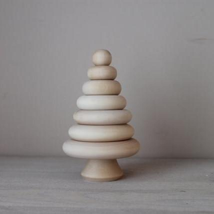 LOVE THIS! Wooden Tree Stacker from ROSTOK Wooden Toys - shop at littlewhimsy NZ