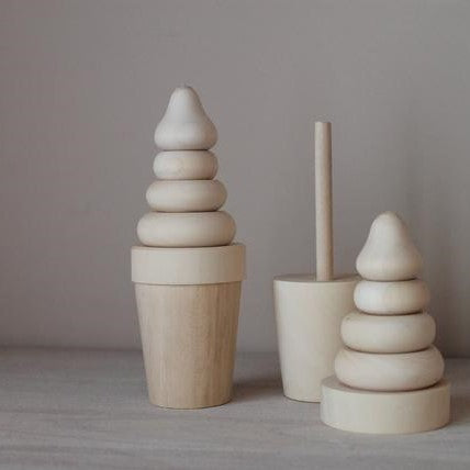 LOVE THIS! Wooden Ice Cream Stacker from ROSTOK Wooden Toys - shop at littlewhimsy NZ