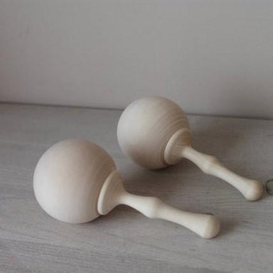 LOVE THIS! Wooden Rattle 12cm from ROSTOK Wooden Toys - shop at littlewhimsy NZ