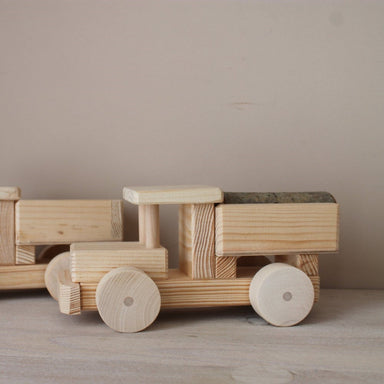 Wooden Truck with Log Decoration