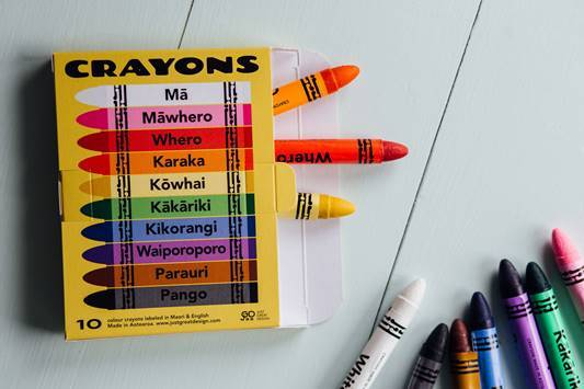 LOVE THIS! Kiwiana Crayons in Maori and English from Just Great Design - shop at littlewhimsy NZ