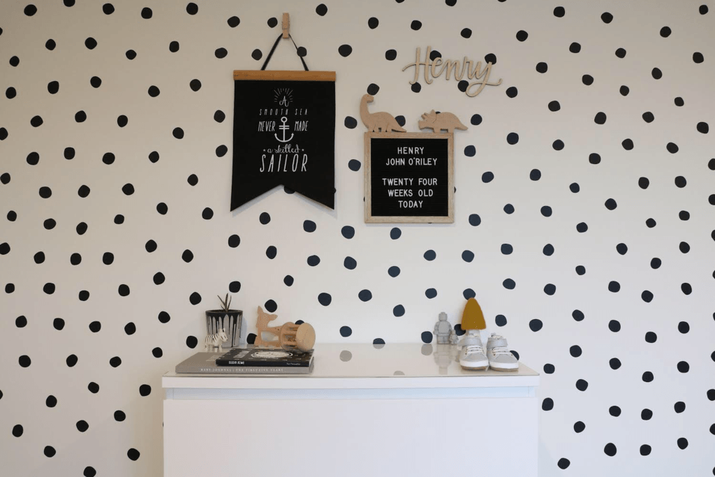 LOVE THIS! Wall Decals - Polka Dots - Hand Painted from 100 Percent Heart - shop at littlewhimsy NZ