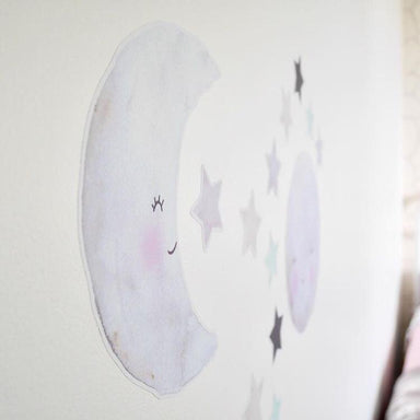 LOVE THIS! Moon and Star Decals - Collaboration with Carisse Enderwick from 100 Percent Heart - shop at littlewhimsy NZ