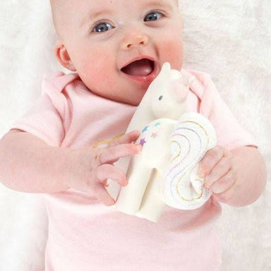 Cotton Candy Unicorn Teether in Gift Box
