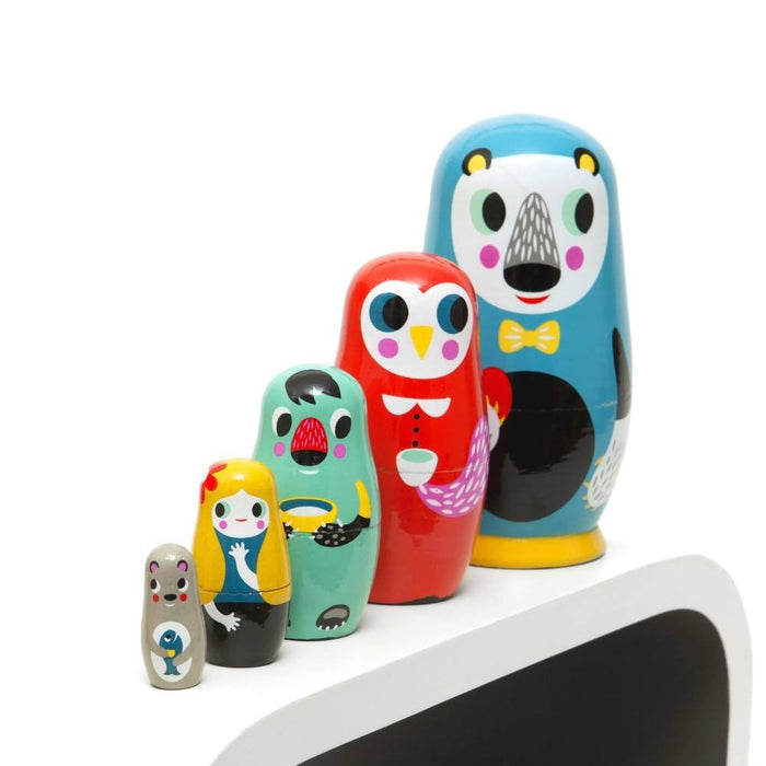 LOVE THIS! Nesting Dolls in the Woods from Petit Monkey - shop at littlewhimsy NZ
