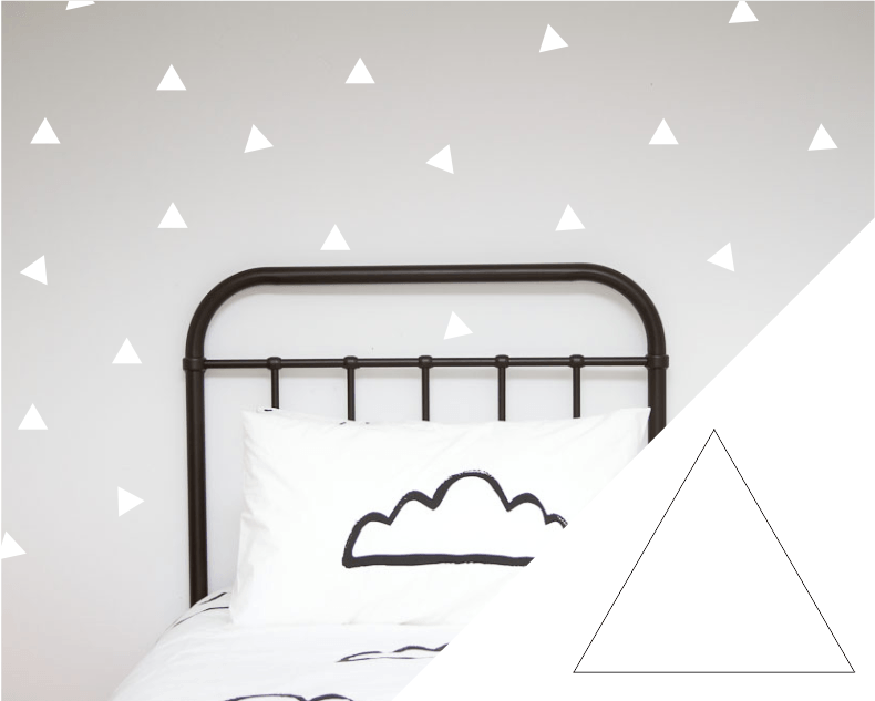LOVE THIS! Wall Decals - Triangles from 100 Percent Heart - shop at littlewhimsy NZ