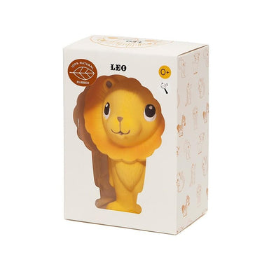 LOVE THIS! Natural Rubber Toy Leo the Lion from Petit Monkey - shop at littlewhimsy NZ
