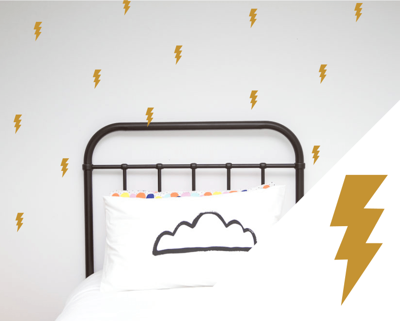 LOVE THIS! Wall Decals - Lightning Bolts from 100 Percent Heart - shop at littlewhimsy NZ