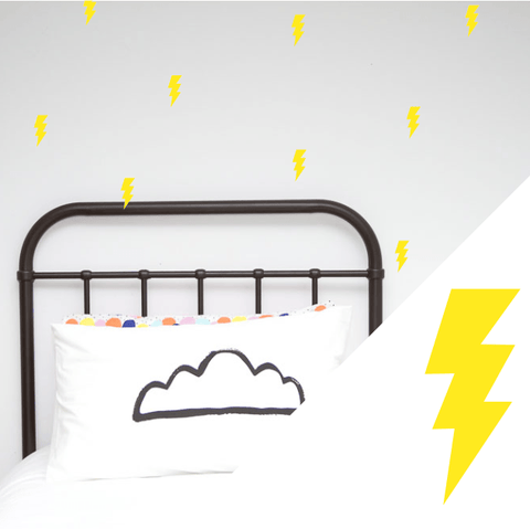 Wall Decals - Lightning Bolts Wall Stickers from 100 Percent Heart - shop at littlewhimsy NZ