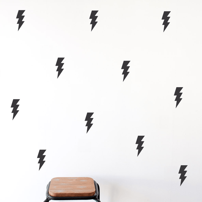 LOVE THIS! Wall Decals - Lightning Bolts Wall Stickers from 100 Percent Heart - shop at littlewhimsy NZ