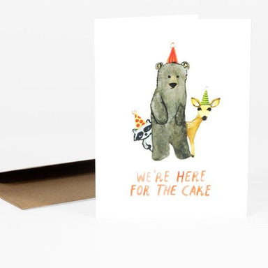 LOVE THIS! Here For The Cake Birthday Card from Little Truths Studio - shop at littlewhimsy NZ