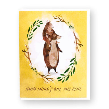 Happy Father's Day, Papa Bear Card