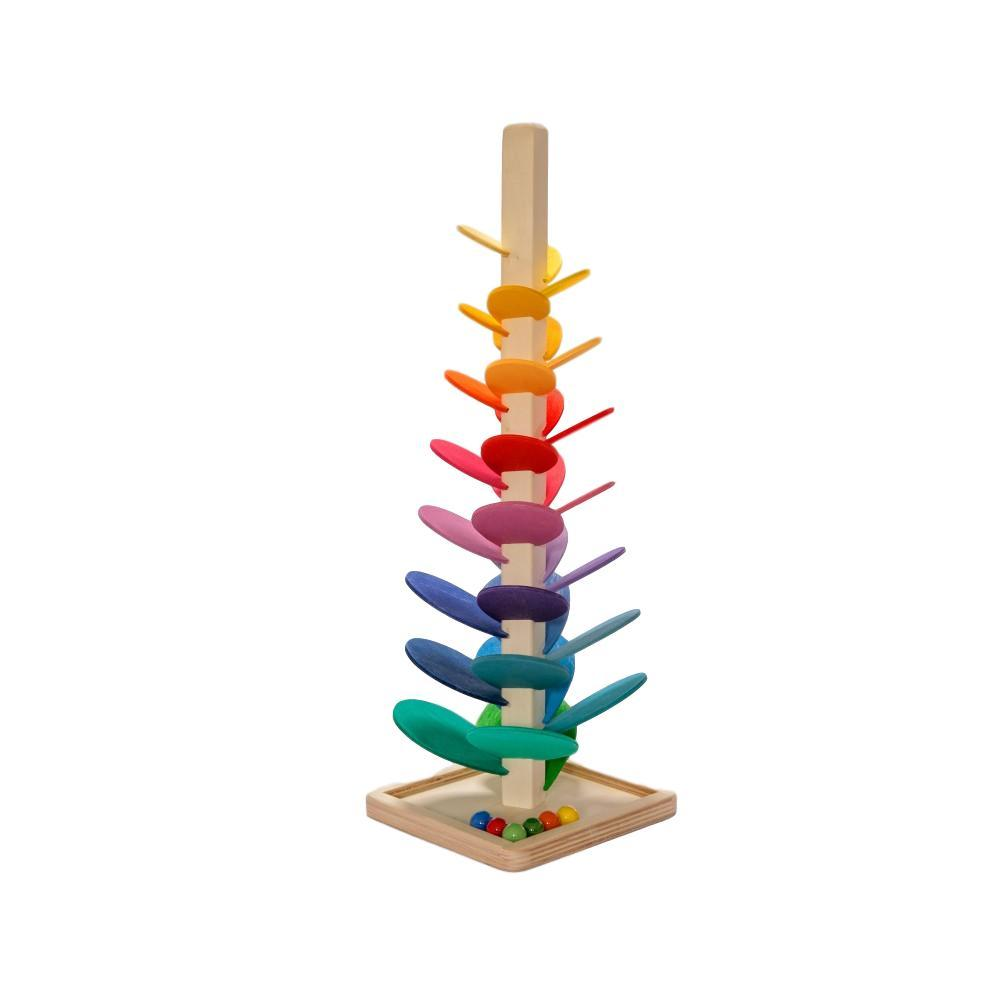 LOVE THIS! Magic Wood Marble Sounding Tree Tower - Mini from Magic Wood - shop at littlewhimsy NZ