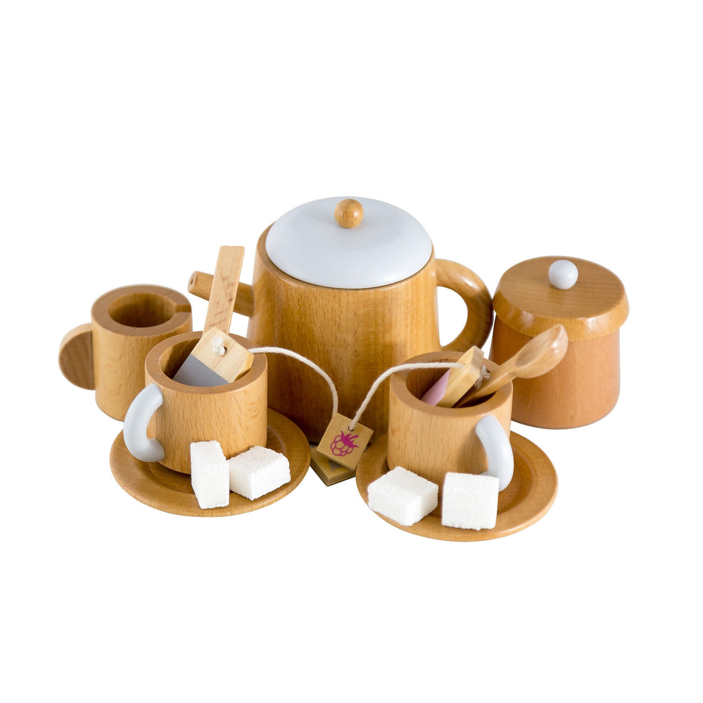 LOVE THIS! Iconic Toy - Wooden Tea Set from Make Me Iconic - shop at littlewhimsy NZ