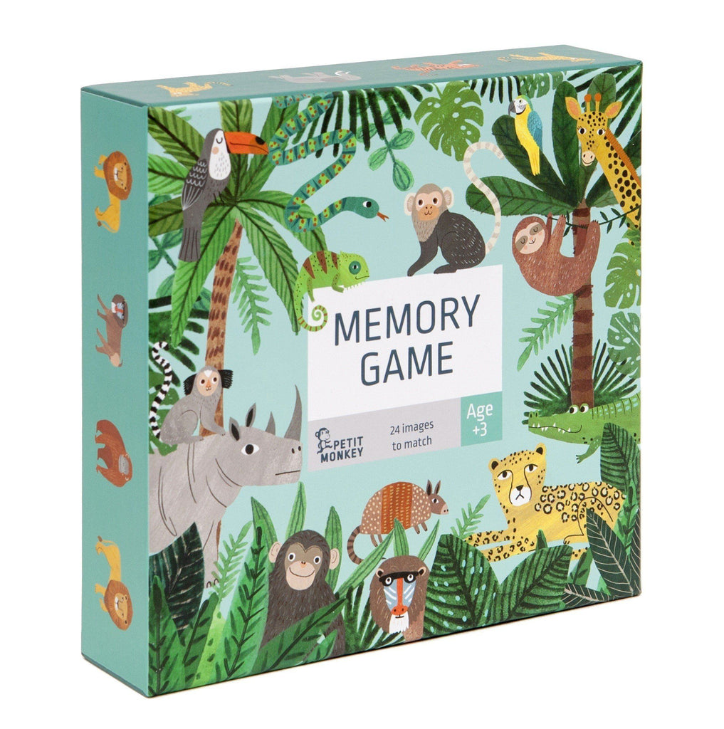 LOVE THIS! Memory Game Jungle Animals from Petit Monkey - shop at littlewhimsy NZ