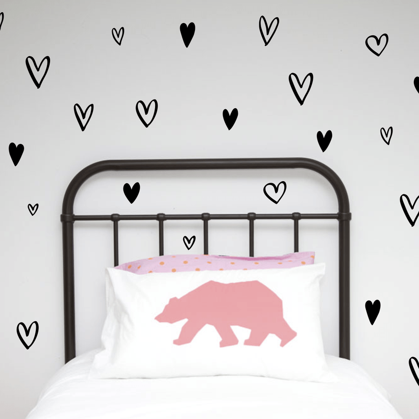 LOVE THIS! Wall Decals - Handpainted Hearts from 100 Percent Heart - shop at littlewhimsy NZ