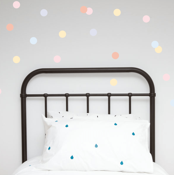 LOVE THIS! Wall Decals - Pastel Polka Dots from 100 Percent Heart - shop at littlewhimsy NZ