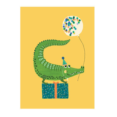 LOVE THIS! Rebecca Jones Postcard Party Crocodile from Petit Monkey - shop at littlewhimsy NZ