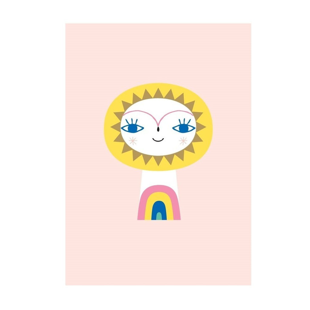 LOVE THIS! Mr Sun Postcard from Petit Monkey - shop at littlewhimsy NZ