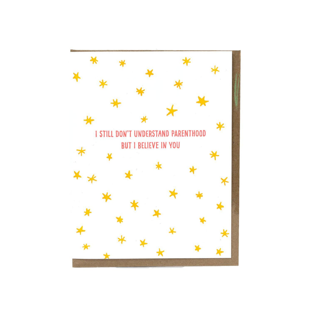 LOVE THIS! Understand Parenthood New Baby Card from Power and Light Press - shop at littlewhimsy NZ