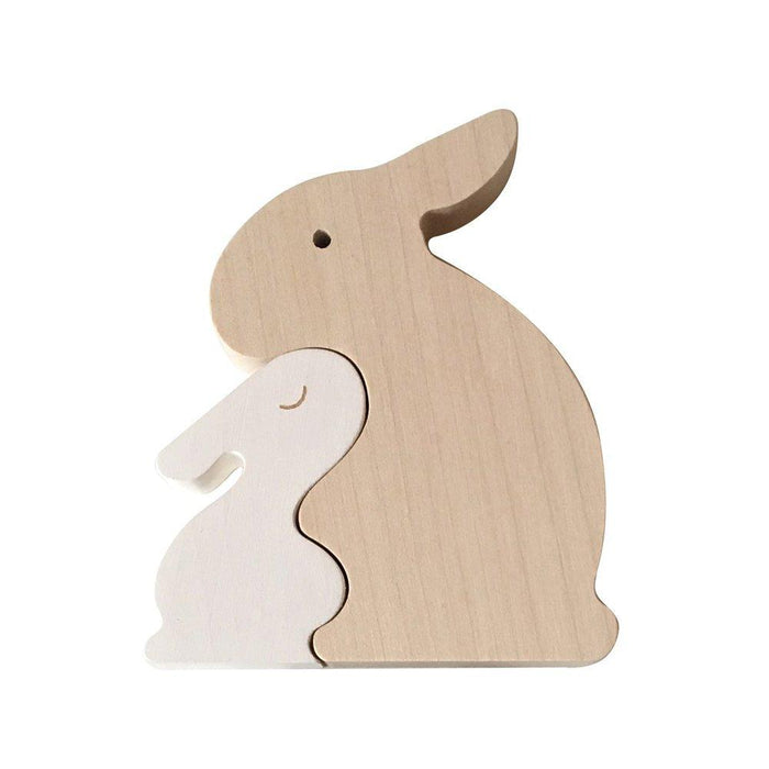 LOVE THIS! Wooden Bunny Puzzle from Briki Vroom Vroom - shop at littlewhimsy NZ