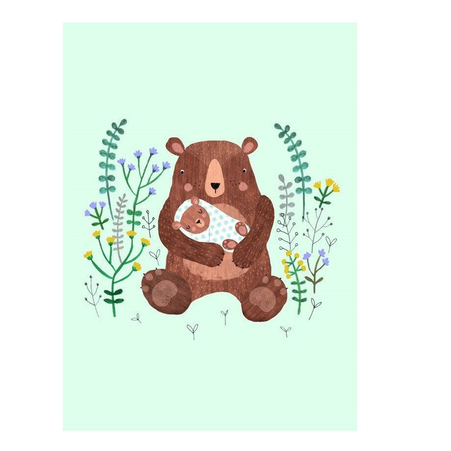LOVE THIS! Rebecca Jones Postcard Baby Bear from Petit Monkey - shop at littlewhimsy NZ