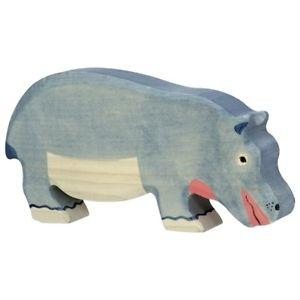 LOVE THIS! Wooden Mama Hippo - Holztiger from Holztiger - shop at littlewhimsy NZ