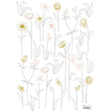LOVE THIS! Wall Decals - Pretty Flowers from Lilipinso - shop at littlewhimsy NZ