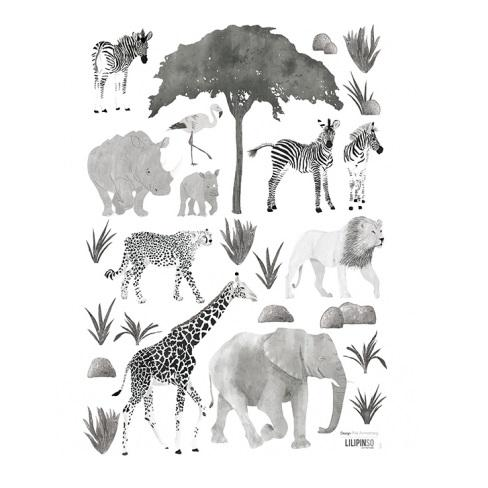 LOVE THIS! Wall Decals - Wild Safari Animals A3 from Lilipinso - shop at littlewhimsy NZ